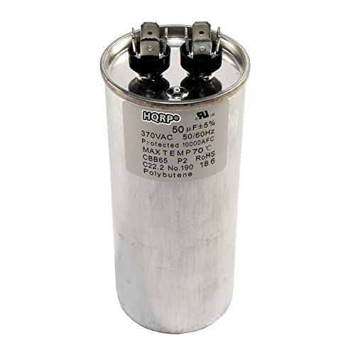 HQRP 50uf 370V Run Capacitor works with AC Electric Motor Start HVAC Blower Compressor Pump Trane Furnace 50MFD 97F8069 CBB65