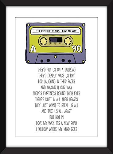 The Psychedelic Furs - Love My Way Lyrics - Unframed Retro