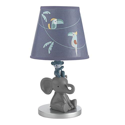 Lambs-Ivy-Animal-Crackers-Jungle-Lamp-with-Shade-Bulb-GrayBlue