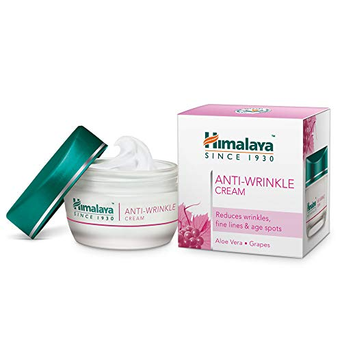 Himalaya Anti-Wrinkle Cream with Grapes and Aloe Vera,Reduces wrinkles,Fine Lines and Age Spots,1.69Oz/50ml