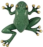 Tree Frog Door Knocker - Brass/Green Patina (Premium Size) by Michael Healy Designs