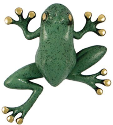 Tree Frog Door Knocker - Brass/Green Patina (Premium Size) by Michael Healy Designs by Michael Healy Designs