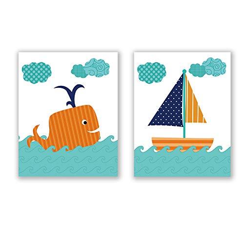 Homdeco Ocean Themed Art Print Set of 2 (8