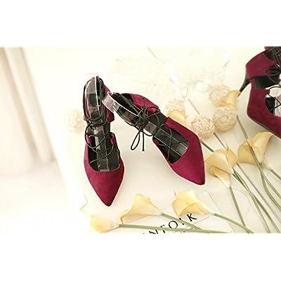 Hauts Chaussures Talons À Pointu Lacets Femmes De Dhg 'pointu 5Aj4qc3RL
