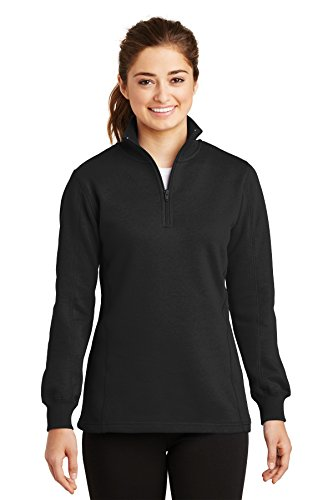 Sport-Tek Women's 1/4 Zip Sweatshirt XL Black