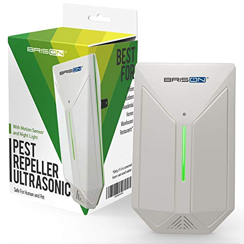 Ultrasonic Pest Repeller - Easy & Humane Way to Reject Rodents Ants Cockroaches Beds Bugs Mosquitos Fly Spiders Rats & Buts - Eco-Friendly & Safe for Human & Home Pets - 1 in Pack