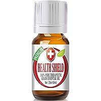Health Shield 100% puro, el mejor aceite esencial de grado terapéutico - 10 ml - Casia, Clavo, Eucalipto, Limón y Romero
