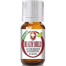 Health Shield 100% Pure, Best Therapeutic Grade Essential Oil - 10ml - Cassia, Clove, Eucalyptus,Lemon, and Rosemary