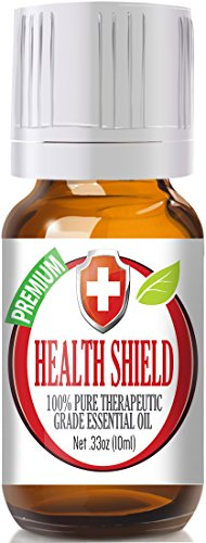Health Shield 100% Pure, Best Therapeutic Grade Essential Oil - 10ml - Cassia, Clove, Eucalyptus,Lemon, and Rosemary