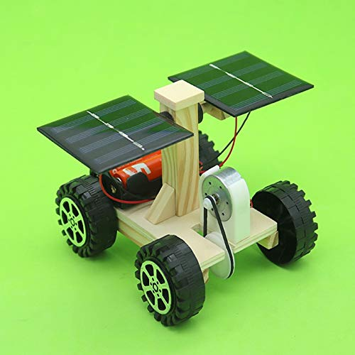 UltaPlay - Wooden Lunar Rover Model Students DIY Science Materials Kits Solar Battery Hybrid Car Kids Fun Science Experiments Toy[] by UltaPlay