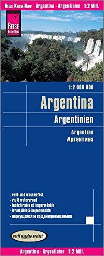 Reise Know How Landkarte Argentinien   Argentina  1 2.000.000   Reiß  Und Wasserfest  World Mapping Project