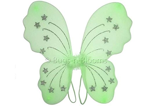 Green Star Butterfly Wings Dress Up Fairy Girl Birthday Party Halloween Costume -