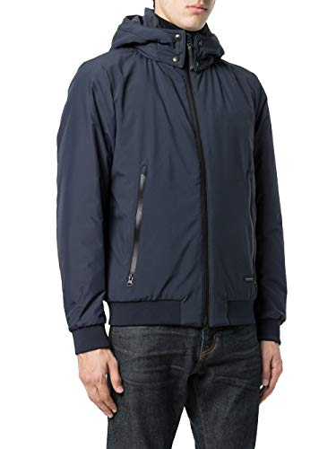 Poliestere Outerwear Uomo Blu Giacca Wocps2576cr10 Woolrich nTq4UInwx