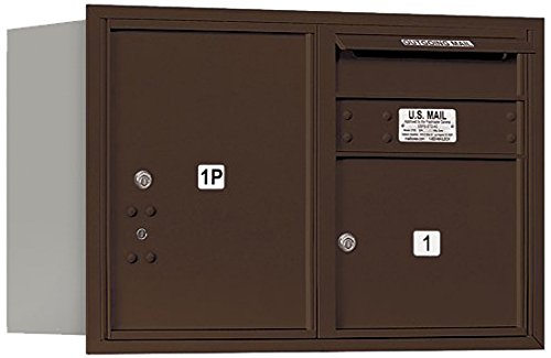 Salsbury Industries 3705D-01ZRU 4C Horizontal Mailbox Bronze