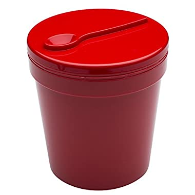 Zak! Designs Insulated Ice Cream Container, Red, fits 1-pint