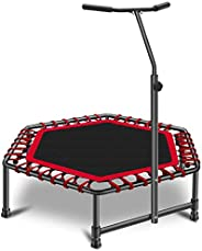 """Gardenature 48"""" Mini Trampoline Rebounder,Workout Cardio,Exercise Fitness Trampoline for A"""