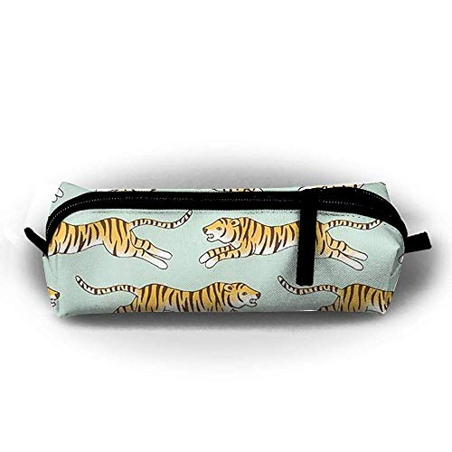 Children Pencil Case Zipper Pen Pouch Racing Tiger Printing Student Small Pen Bag Rectangular Pouch