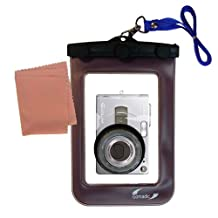 Gomadic Waterproof Camera Protective Bag for the Casio Exilim EX-Z30 - Unique Floating Design Keeps Camera Clean and Dry