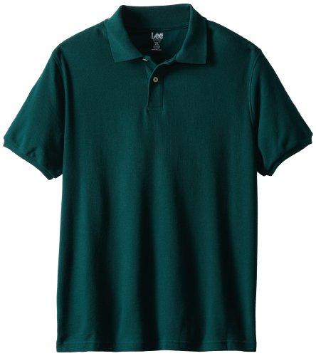 Lee Uniforms Men's Modern Fit Short Sleeve Polo Shirt, Hunter Green, 2XL