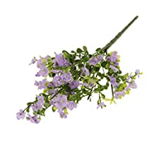 Dovewill Artificial Soft Real Simulation Silk Plastic Gypsophila Babys' Breath Natural Flower Bridal Bouquet Home Garden Table Wedding Lawn Decor - Lilac