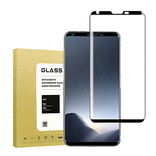 For LG V30 Screen Protector (Case Friendly), Jyline 3D Curved Tempered Glass Screen Protector Full Coverage / Bubble Free / Scratch Resistant / Ultra Clearfor LG V30
