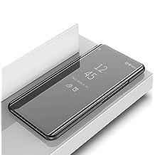 709c9544e08 DIFE Ultra Delgado Translúcido Espejo con Función Kickstand Flip Funda  Carcasa Case para Samsung Galaxy Grand Prime Plus/J2 Prime - Negro