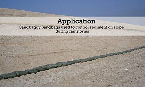 Sandbaggy - Empty Poly Sandbags W/ UV Protection - Size: 14'' x 26'' - Color: Green - Military Grade (500 Bags) (Renewed) by Sandbaggy (Image #5)
