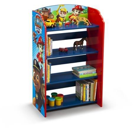 Kids Character 4 Shelf Bookcase Bookshelf Paw Patrol