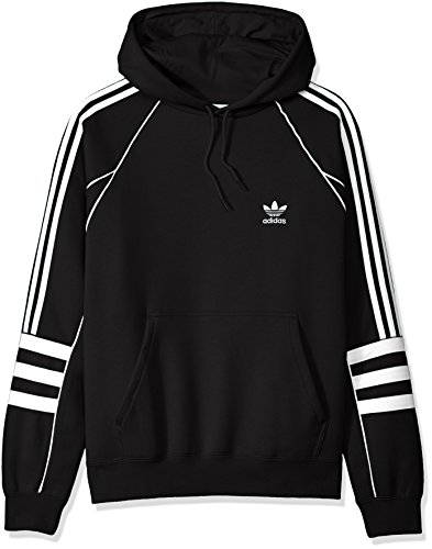 (adidas Originals Men's Authentics Hoodie, Black, L)