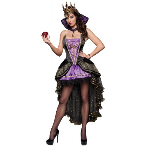 InCharacter Costumes Evil Queen Costume, Black/Purple, Large