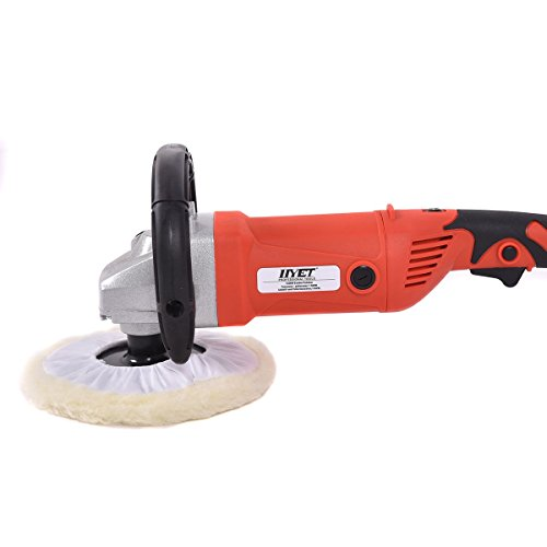 "7"" Electric 6 Variable Speed Car Polisher Buffer Waxer Sander Detail Boat w/Case"