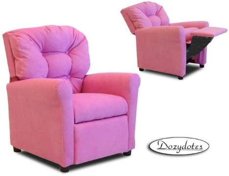 Charmant Hot Pink MicroSuede Casual Child Recliner Chair