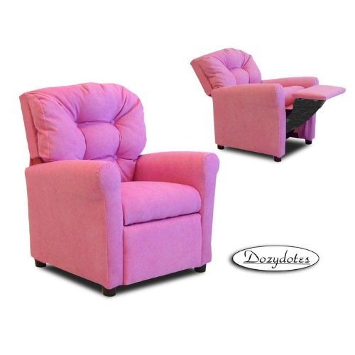 Hot Pink MicroSuede Casual Child Recliner Chair