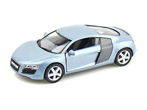 Audi Diecast Cars (Audi R8 1/36 Silver-Blue)