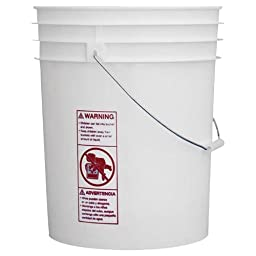 Liberty Mountain White Pail with Handle (5-Gallon)