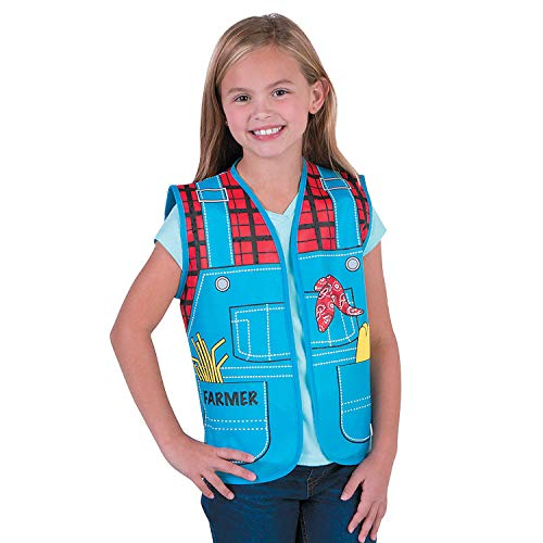 Fun Express - Kids Farmer Vest - Apparel Accessories - Costume Accessories - Costume Props - 1 Piece]()