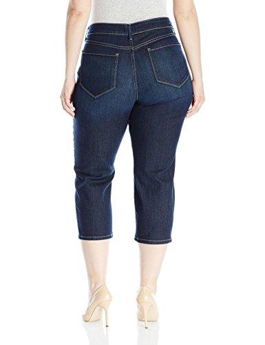 NYDJ Women's Plus Size Marilyn Relaxed Capri Jeans, Hollywood, 14W