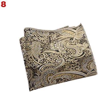 XMRB ヴィンテージ男性の英国のデザイン花柄を印刷ポケットスクエアハンカチ胸タオルスーツアクセサリー (色 : 4)