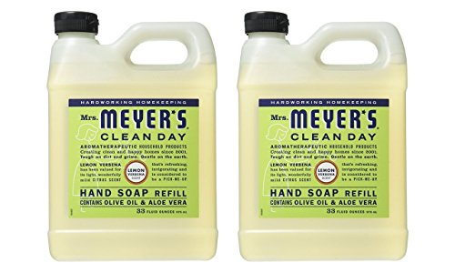 (Mrs Meyers Liquid Hand Soap Refill, 33 Oz, Lemon Verbena Scent, Pack Of 2)
