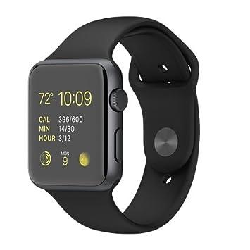 415987bc987 Pulseira Sport em Silicone para relógio Apple Watch 42mm Series 3 2 1  (Preto 42mm