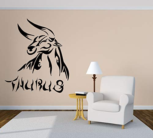 Vinyl Sticker Zodiac Sign Taurus Astrology Horoscope Constellation Calf Bull Mural Decal Wall Art Decor EH040