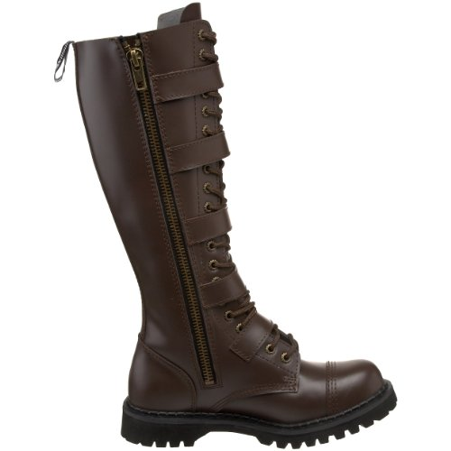 Mens Pleaser Brown Leather Boot Leather BN Steam20 LE Pleaser Mens q6nEOwgq