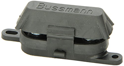 Bussmann HMEG Fuse Block/Holder with Cover For AMG Fuses - 500A, 8 AWG to 1/0 AWG, 1 Pack