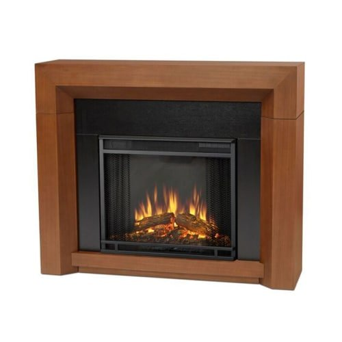 Real Flame 3001E-VBM 3001E Hughes Electric Fireplace, Vintage Black Maple, Medium
