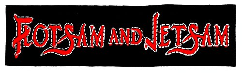 Mnc Patch Black Flotsam And Jetsam Music Band Heavy Metal Punk Rock Logo iron on sew on patch Sign Badge Symbol Patch Iron on Applique Embroidered Jacket T shirt Costume - Flotsam And Jetsam Costumes