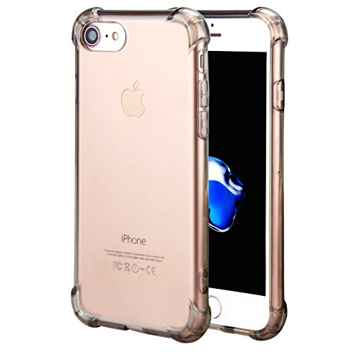 CaseHQ iPhone 7 Case, iPhone 8 Case,Crystal Clear Shock Absorption Bumper Slim Fit,Heavy Duty Protection TPU Cover Case for Apple iPhone 7(4.7 inch)(2016)/iPhone 8(4.7 inch)(2017) -ClearBlack - Sport Raspberry Shoe