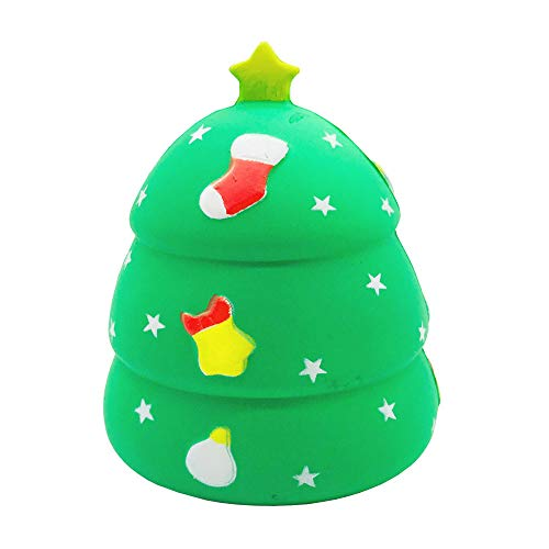 Pausseo Simulated Cute Christmas Tree Decompression Squeeze Toy Brain Game Scented Super Slow Rising Squeezable Dolls,Ideal for Stress Reliever & Anxiety Relief,Special Needs,Autism,Disorders & -