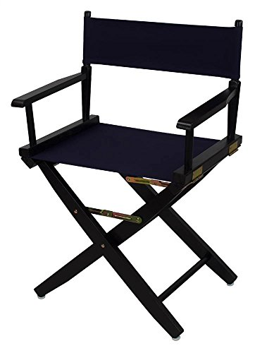Extra-Wide Premium Directors Chair with Navy Canvas by Casual Home