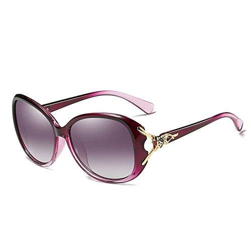 Señoras la las de sol púrpura sol de elegantes Prismáticos de gafas manera mujeres Eyew wlgreatsp Gafas polarizadas femeninas de AXwdxERqw