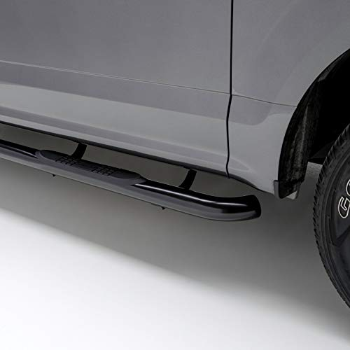 ARIES 203006 3-Inch Round Black Steel Nerf Bars